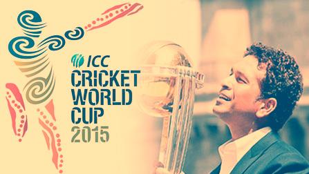 Sachin Tendulkar 2015 Cricket World Cup Ambassador