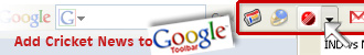Add Cricket News to Your Google Toolbar
