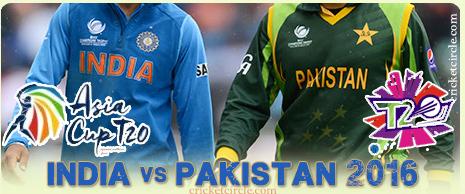 India Pakistan 2016 T20i