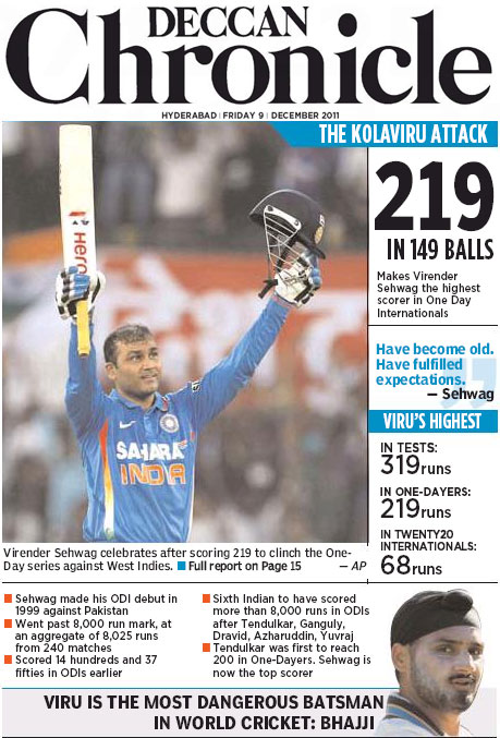 Sehwag World Record